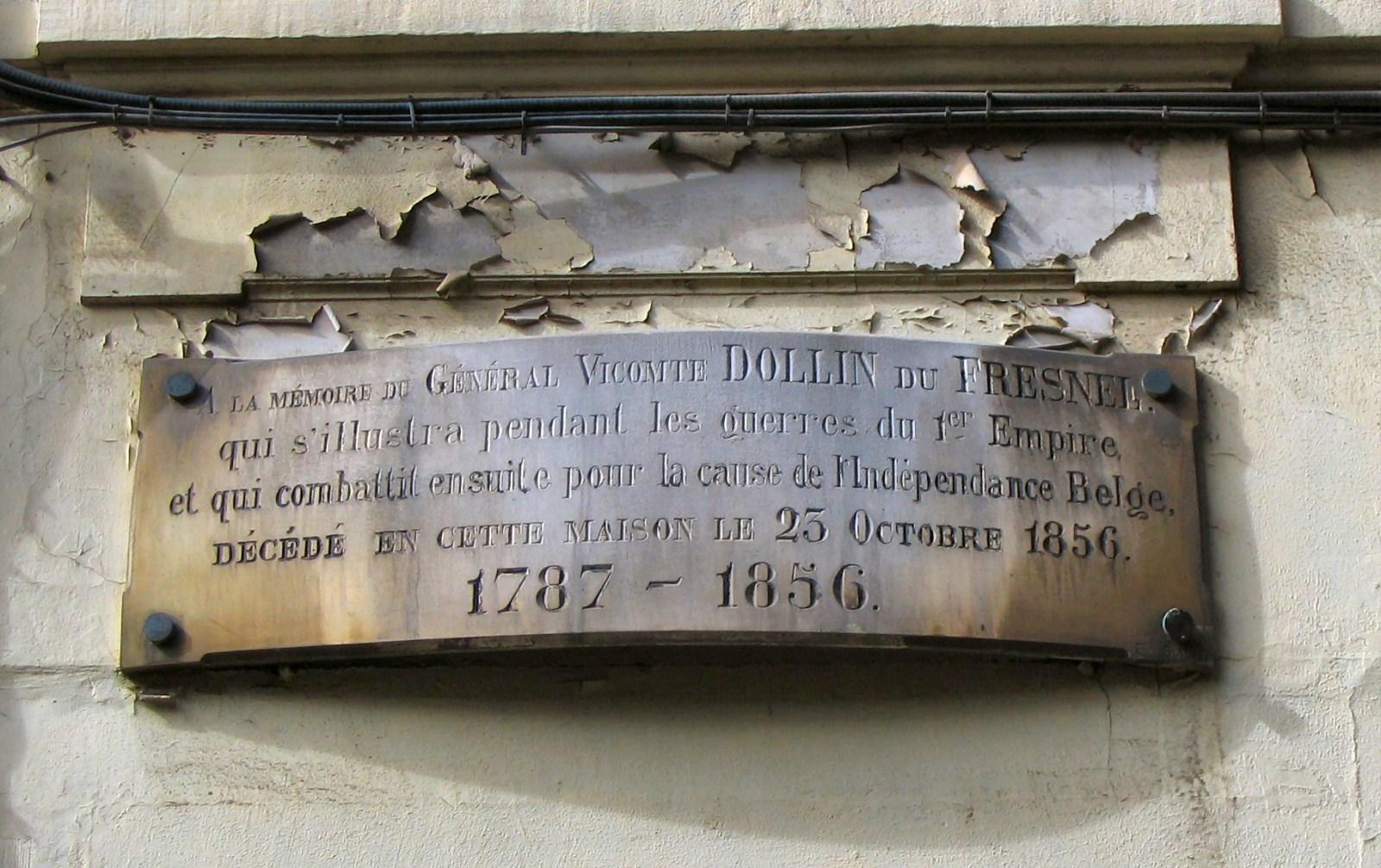 Rue Keyenveld 7, plaque commémorative récemment disparue., 2007