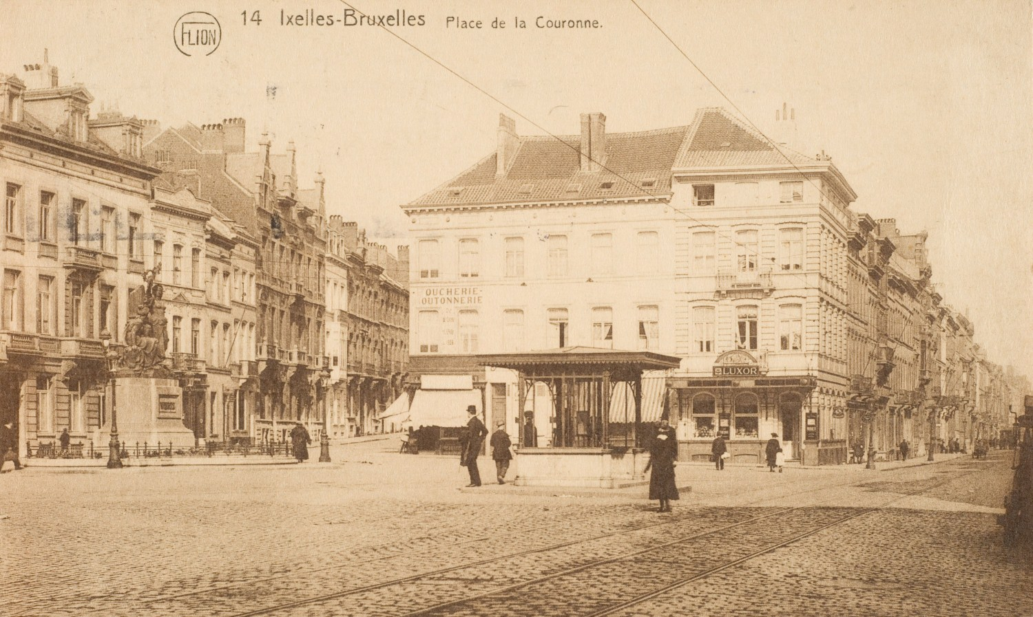 Place Raymond Blyckaerts, vers 1900 © (Collection Dexia Banque).