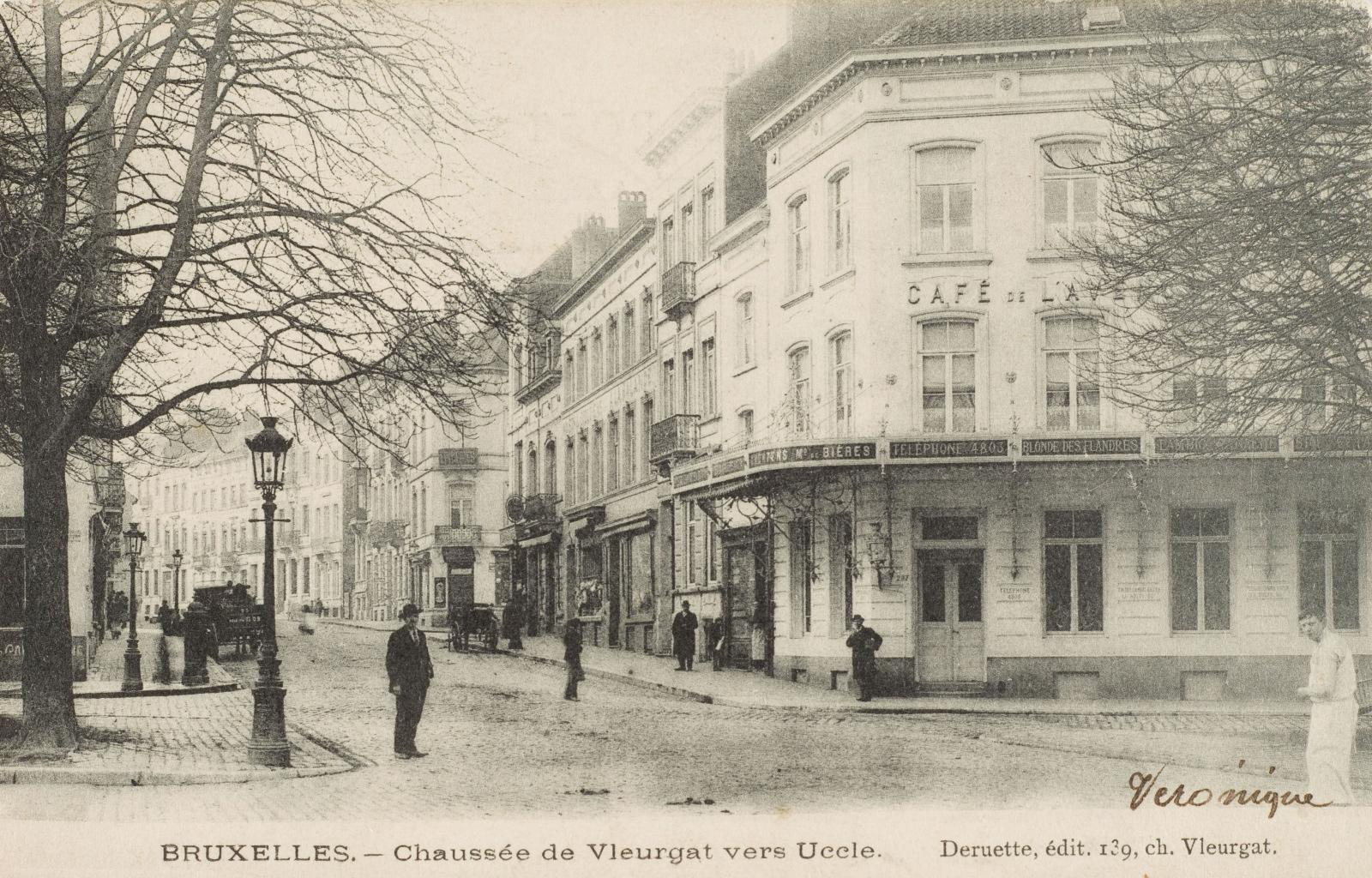 Chaussée de Vleurgat vers Uccle, s.d. (Collection de Dexia Banque).