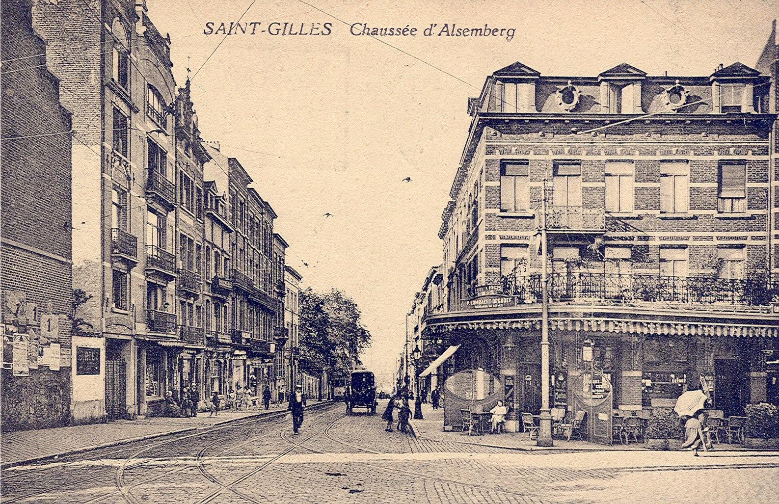 Alsembergsesteenweg (Verzameling van Dexia Bank, ca 1930).