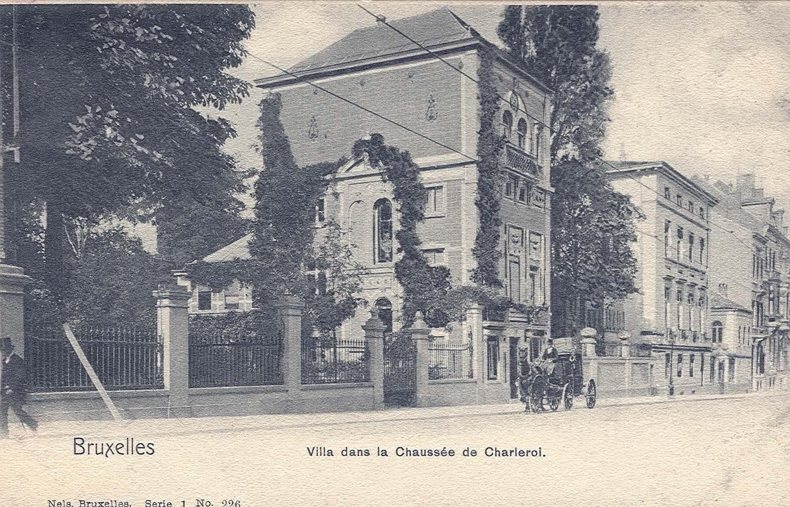 Charleroisesteenweg, vml. eigendom van schilder Jean Robie tussen 1876 en 1904 (Verzameling van Dexia Bank, s.d.).