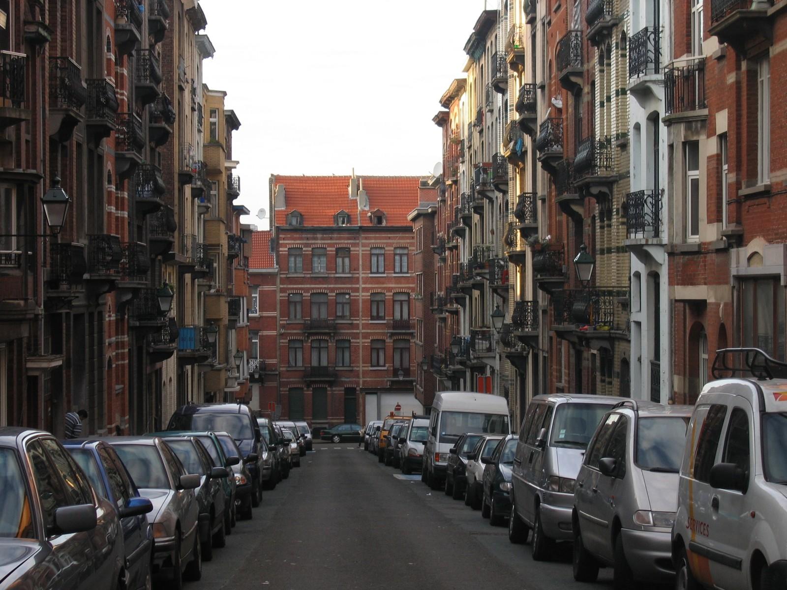 Rue Egide Walschaerts, vue depuis la chaussée de Forest., 2004