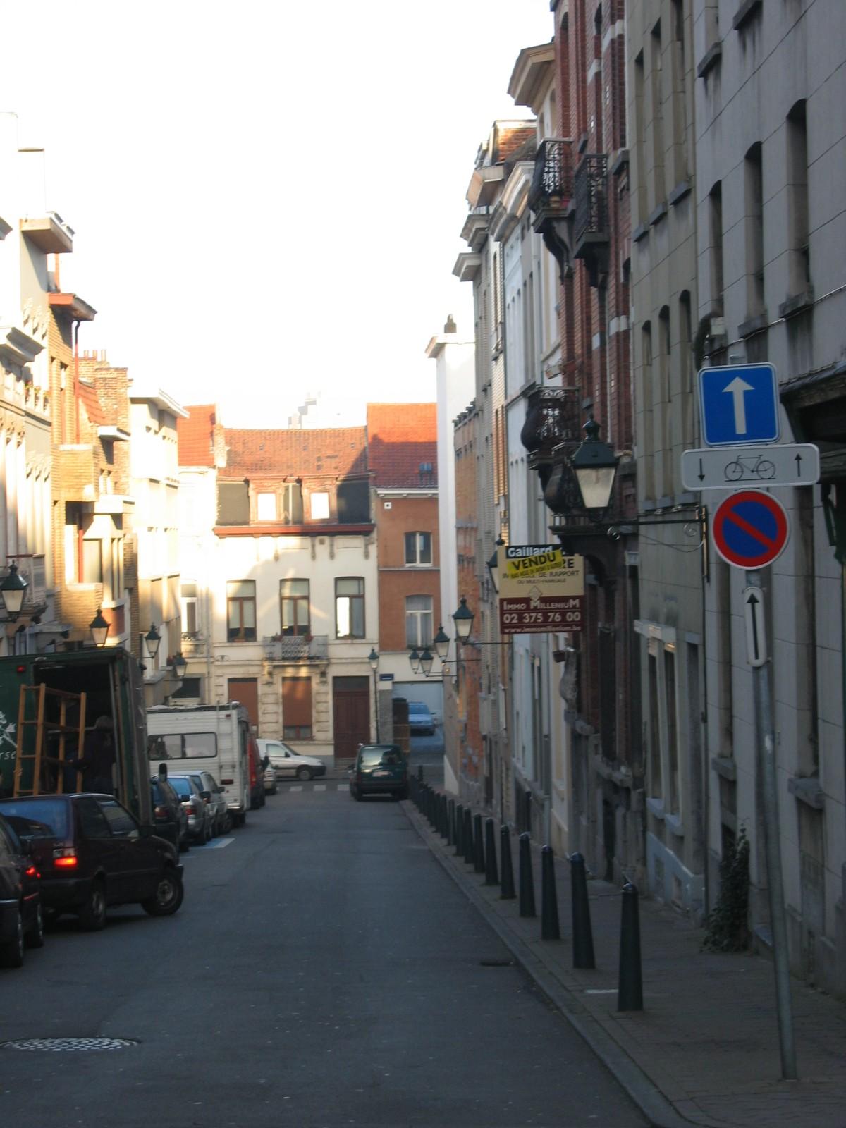 Rue Franz Gailliard, vue vers la chaussée de Forest., 2005