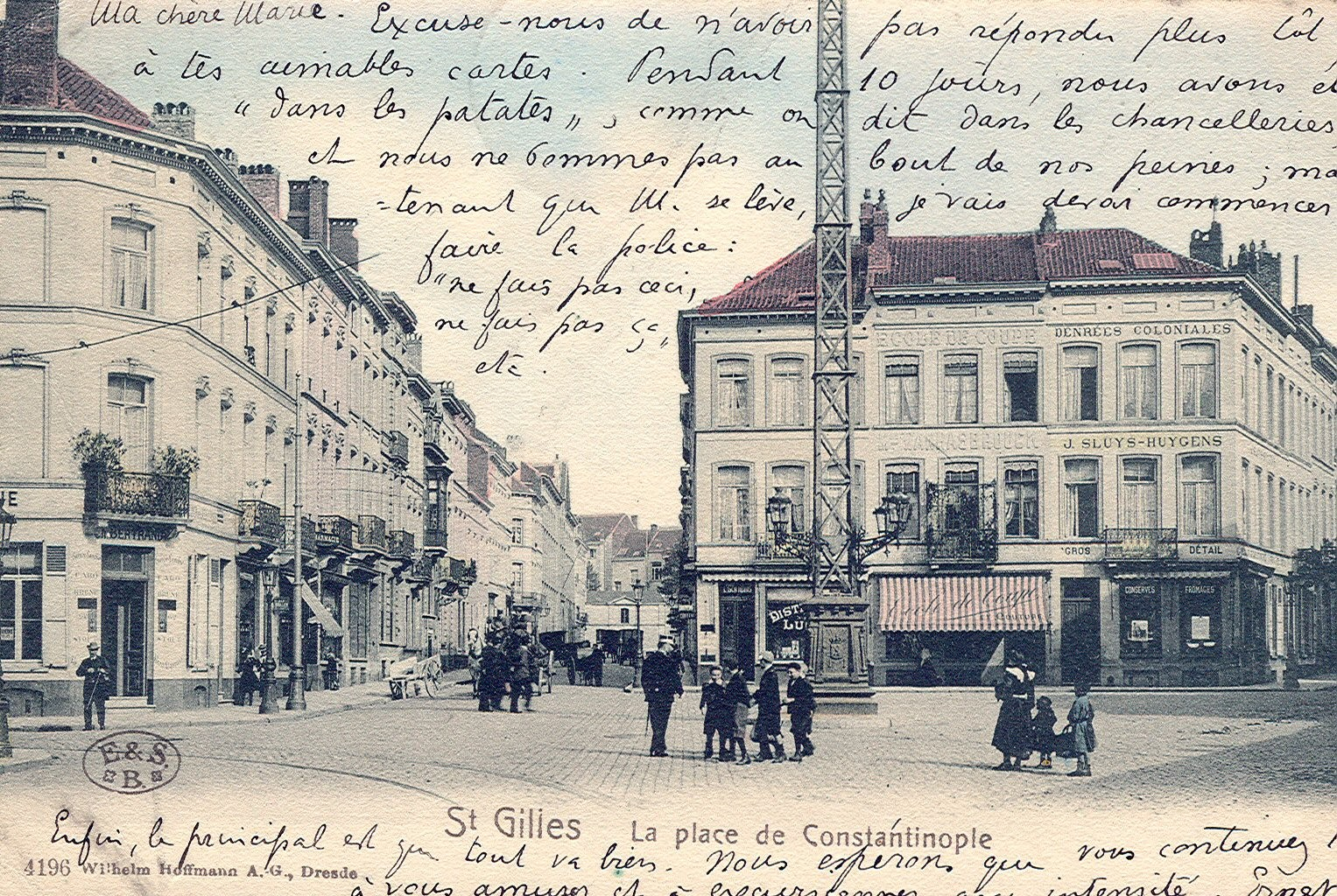 Anc. place de Constantinople, act. place des Héros (Collection de Dexia Banque, 1904).