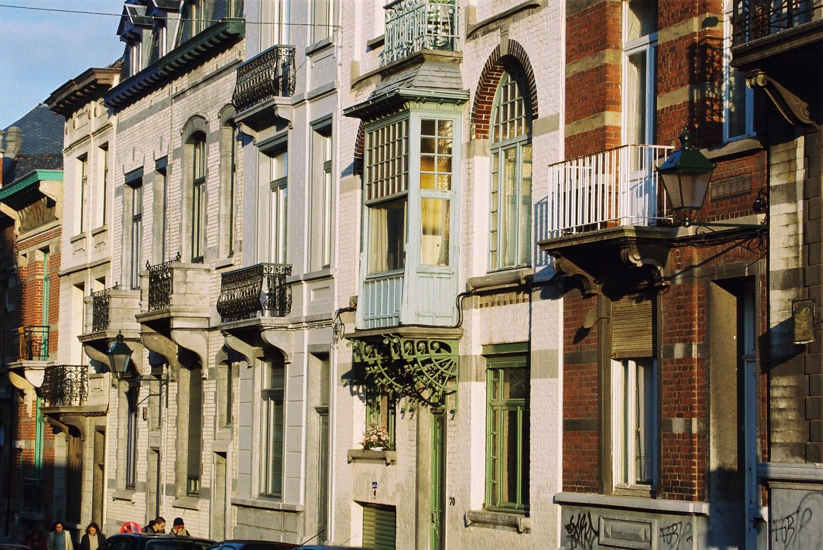 Rue d\'Irlande, enfilade de maisons., s.d.
