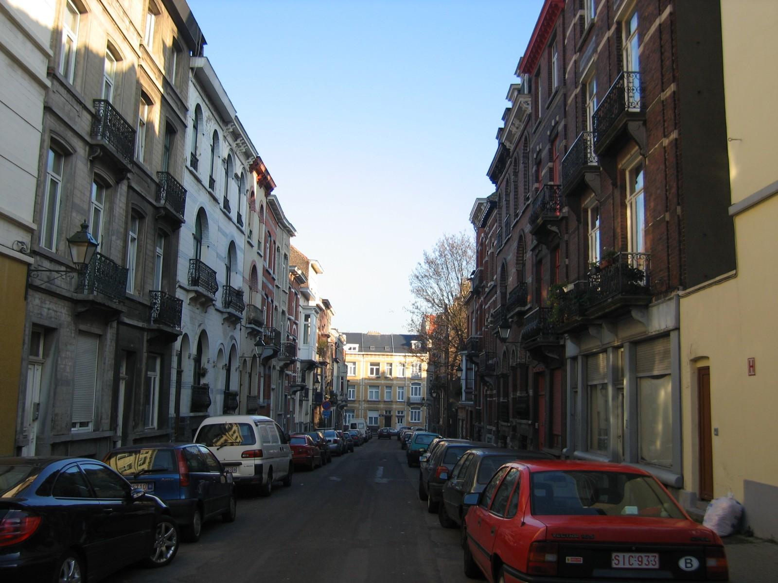 Polenstraat vanuit Waterloosesteenweg., 2004
