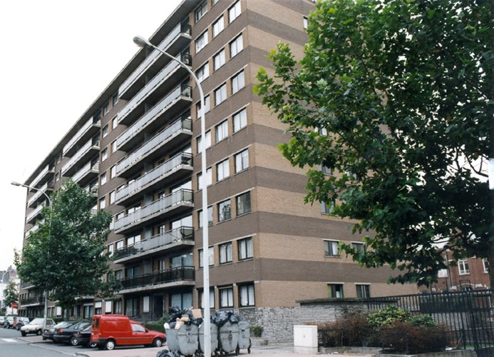 Rue Vlogaert, immeuble de logements sociaux pour le Foyer saint-gillois., s.d.