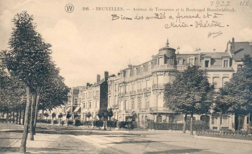 Le boulevard Brand Whitlock entre 1913 et 1922 (ACWSP/SP carte postale inv. 293).