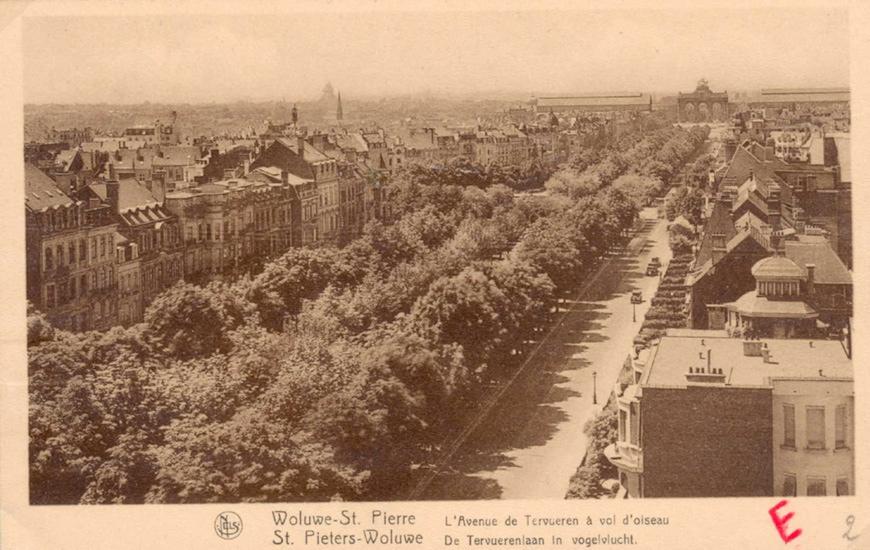 Tervurenlaan rond 1930 (GASPW/DE postkaart inv. 275).