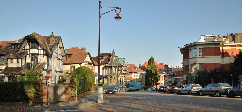 Le début de l'avenue Clémentine et l'angle de l'avenue du Mont Kemmel, 2016