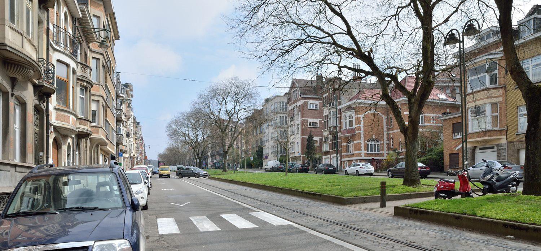Vue d'ensemble de l'avenue du Parc en direction de Saint-Gilles, 2016