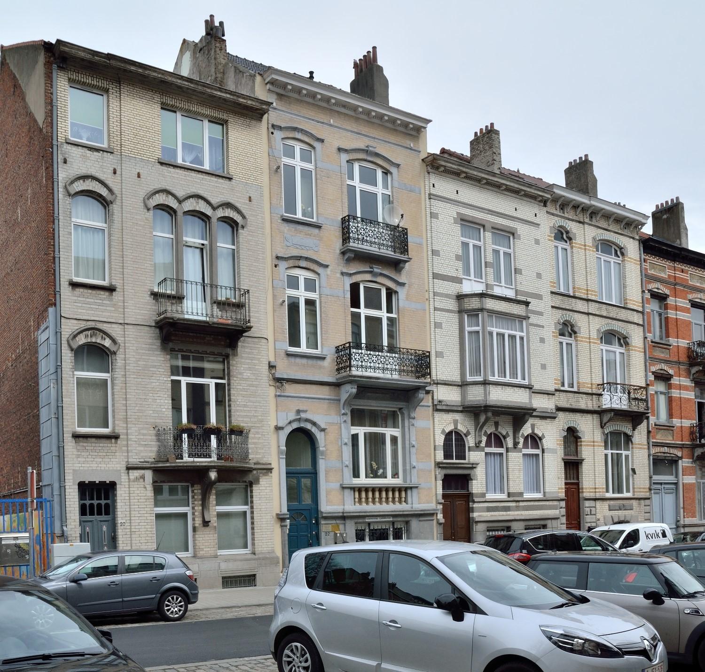 Avenue Saint-Augustin 20 à 26, enfilade homogène de maisons de style éclectique, 2016