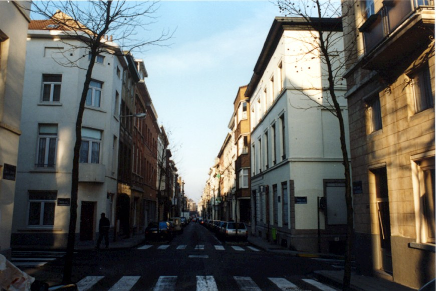 Rue de la Limite, vue vers la rue Josaphat (photo 1993-1995).