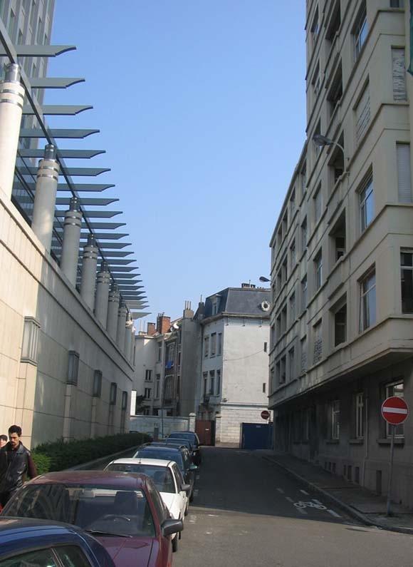 Rue du Pôle, vue en direction de la rue Brialmont., 2005
