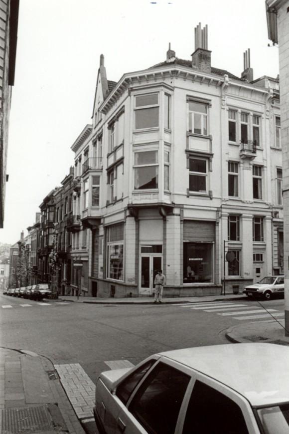 Rue Tiberghien, côté pair depuis la rue Gillon (photo 1993-1995).